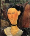 woman with velvet ribbon the black border 1915 Amedeo Modigliani